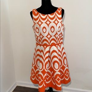 Taylor printed fit flare sleeveless dress